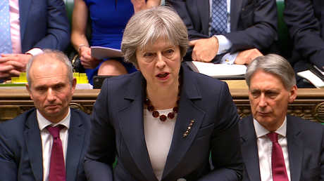 رئيسة الوزراء البريطانية، تيريزا ماي