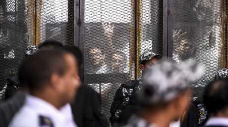 محاكمة الإخوان المسلمين في مصر (صورة من الأرشيف)