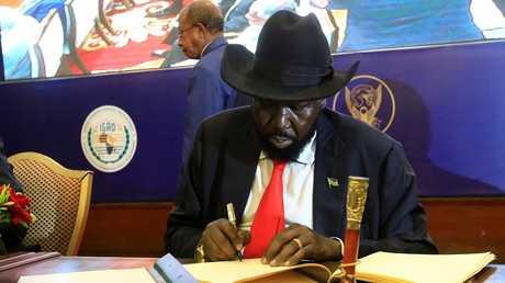رئيس جنوب السودان سلفا كير (صورة من الأرشيف)