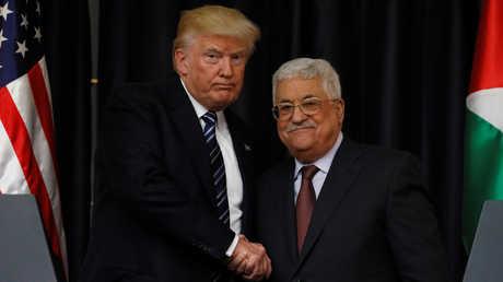 الرئيسان الأمريكي، دونالد ترامب، والفلسطيني، محمود عباس - أرشيف