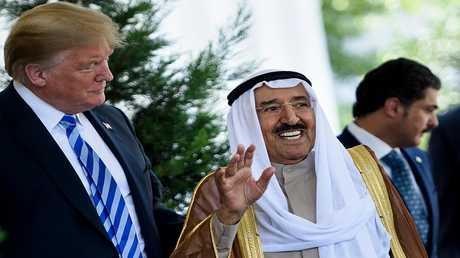 أمير الكويت صباح الأحمد الصباح والرئيس الأمريكي دونالد ترامب