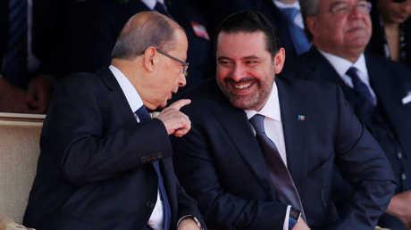 الرئيس اللبناني ميشال عون ورئيس الوزراء سعد الحريري