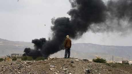 غارة للتحالف العربي على صنعاء -أرشيف