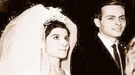 أشرف مروان في يوم زفافه على ابنة الرئيس المصري الراحل جمال عبد الناصر