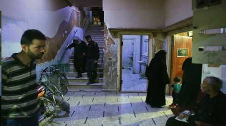 مستشفى تحت الارض بمدينة دوما قرب دمشق- ارشيف