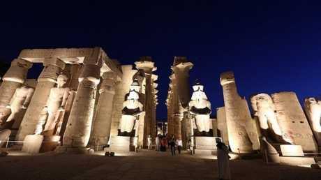 مدينة الأقصر الأثرية في جنوب مصر