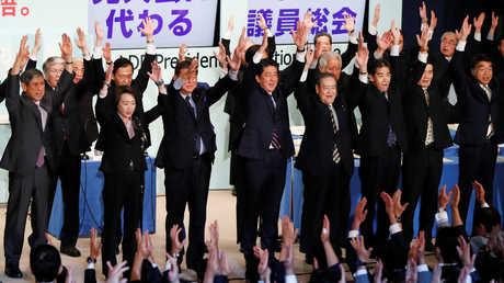 اجتماع للحزب الليبرالي الديمقراطي الياباني في طوكيو، 20 سبتمبر 2018