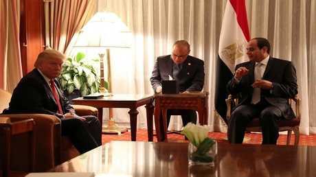 الرئيس المصري عبد الفتاح السيسي والرئيس الأمريكي دونالد ترامب