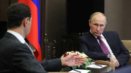 فلاديمير بوتين وبشار الأسد - صورة أرشيفية