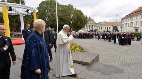 بابا الفاتيكان فرانسيس في فيلنوس، ليتوانيا، 22 سبتمبر 2018