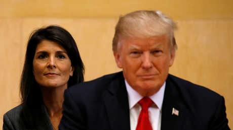 دونالد ترامب ونيكي هايلي