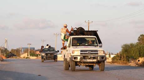 قوات موالية لحكومة الوفاق الليبية جنوب طرابلس