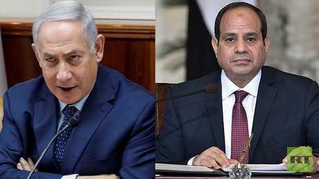 الرئيس المصري عبد الفتاح السيسي ورئيس الوزراء الإسرائيلي بنيامين نتنياهو