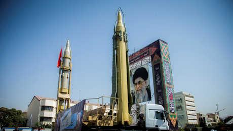 صاروخ باليستي مستعرض وسط طهران