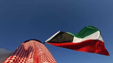 علم الكويت - صورة من الأرشيف