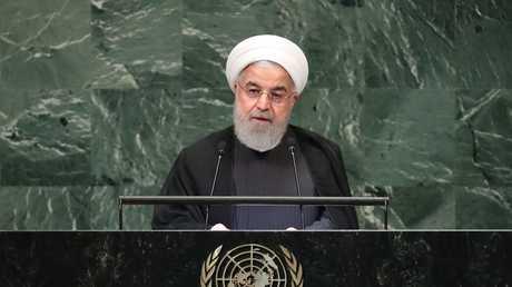 الرئيس الإيراني حسن روحاني يلقي كلمة أمام الدورة الـ73 للجمعية العامة للأمم المتحدة