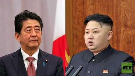 الزعيم الكوري الشمالي كيم جونغ أون ورئيس الوزراء الياباني شينزو آبي