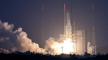 إطلاق الصاروخ أريان5 المائة من مطار كورو الفضائي