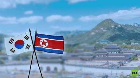 العلمان الكوري الشمالي والجنوبي- أرشيف