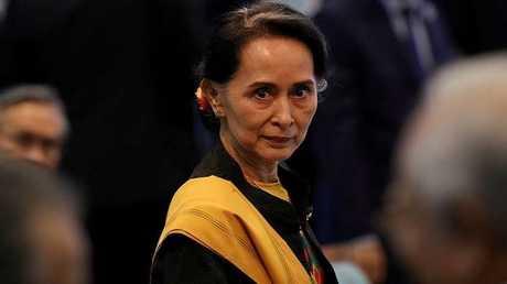 مستشارة الدولة ووزيرة خارجية ميانمار اونغ سان سو تشي (صورة أرشيفية)