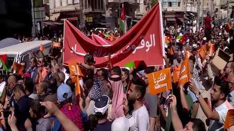 تظاهرات في عمان ضد قانون ضريبة الدخل