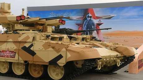 """العربة القتاليةBMPT """" تيرميناتر""""  المخصصة لدعم الدبابات."""