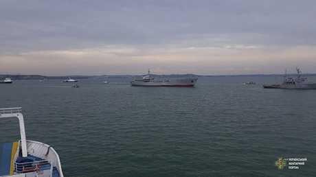 سفن أوكرانية في مياه بحر آزوف (صورة أرشيفية)
