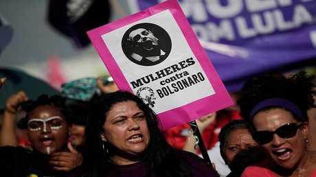 مظاهرة للنساء البرازيليات ضد المرشح للرئاسة اليميني المتطرّف جايير بولسونارو