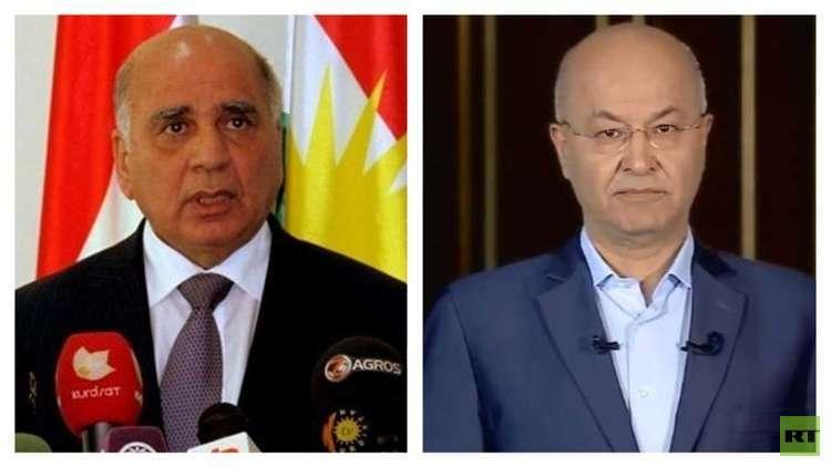 مرشحا الحزبين الكرديين لرئاسة العراق برهم صالح وفؤاد حسين