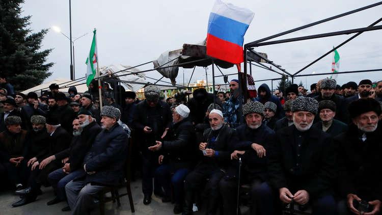 رئيس إنغوشيا الروسية: الاحتجاجات على ترسيم الحدود اتخذت طابعا دينيا