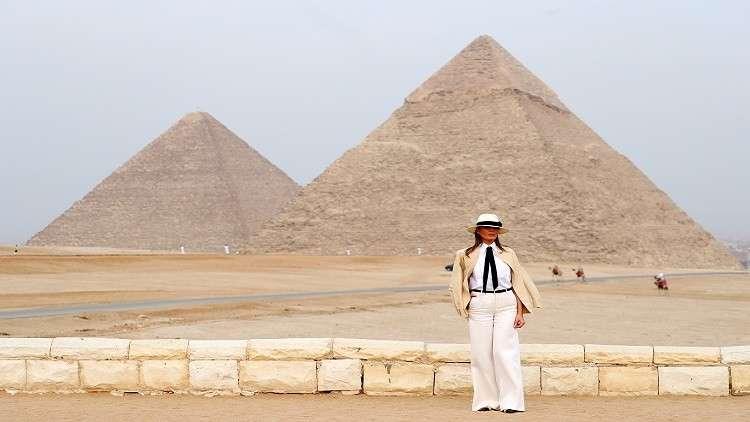 بالفيديو.. ميلانيا ترامب تزور أهرامات مصر
