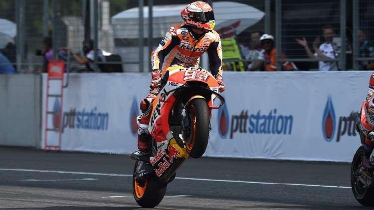 ماركيز يفوز بالنسخة الأولى من جائزة تايلاند الكبرى للدراجات النارية