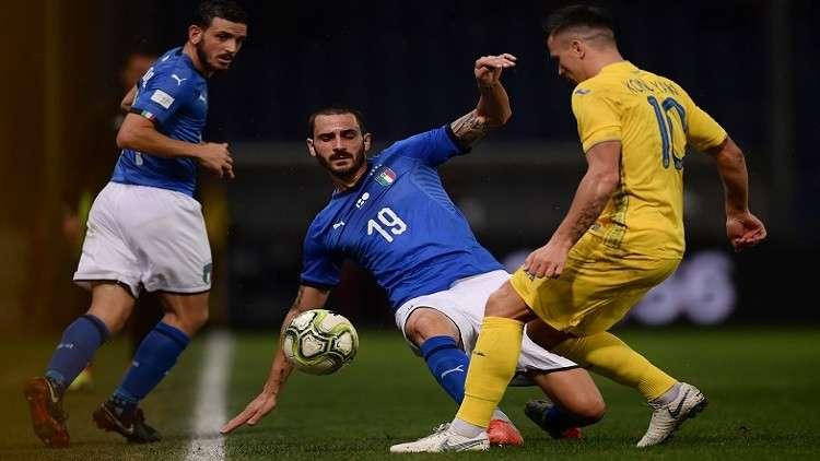 أوكرانيا تفرض التعادل على إيطاليا