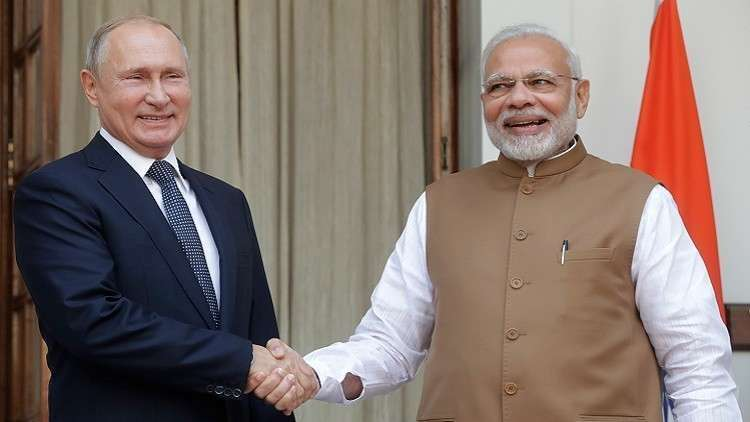مدمرات روسية في الطريق إلى الهند
