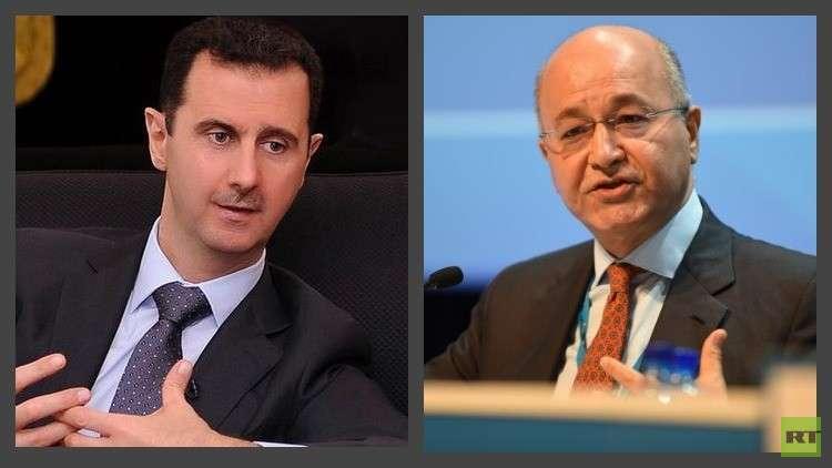 الأسد يهنئ نظيره الرئيس العراقي الجديد
