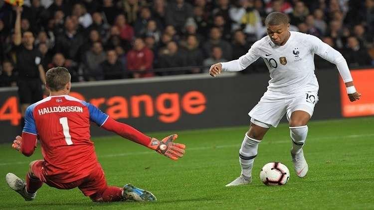 مبابي يواصل تألقه.. وينقذ فرنسا من الخسارة أمام آيسلندا