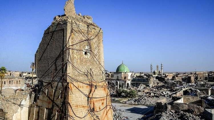 المنارة الحدباء في الموصل التي فجرها داعش