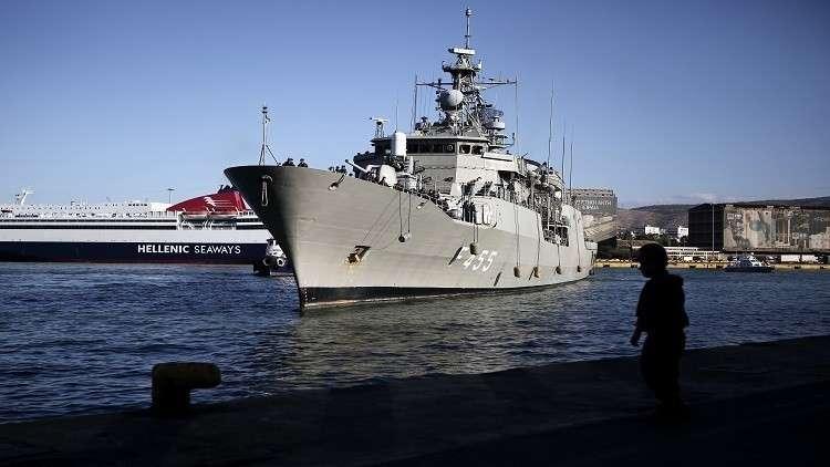 القوات البحرية التركية تعترض فرقاطة يونانية شرق المتوسط