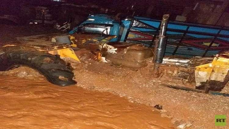 خسائر بشرية ومادية جراء أمطار غير مسبوقة في دمشق وريفها (صور+ فيديو)