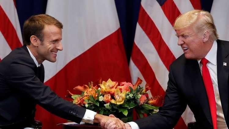 ترامب يبحث مع ماكرون مقتل خاشقجي والوضع في سوريا ومعاهدة الصواريخ