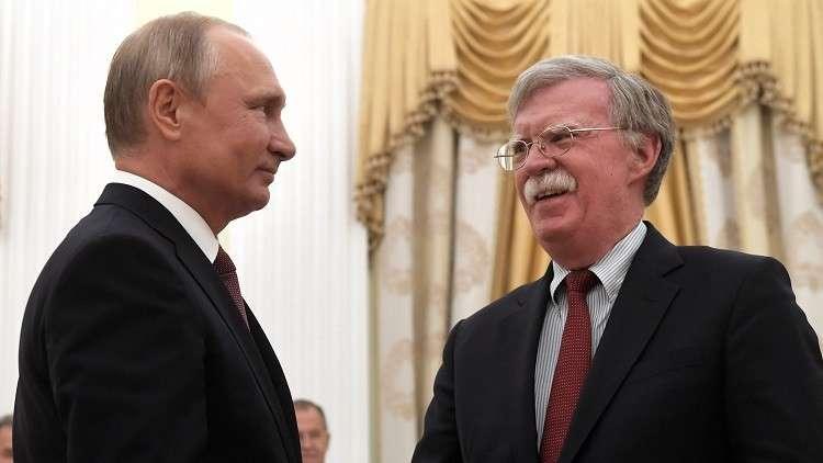 الكرملين: بوتين يستقبل بولتون غدا الثلاثاء