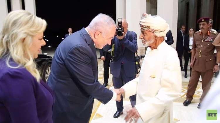 شاهد.. السلطان قابوس يستقبل رئيس وزراء إسرائيل بنيامين نتنياهو