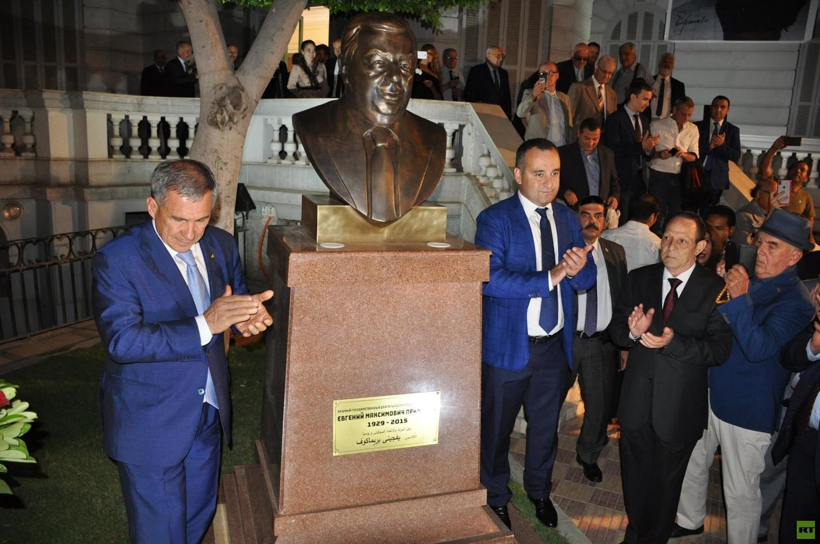 تدشين تمثال لرئيس الوزراء الروسي الأسبق بريماكوف في مصر (صور)
