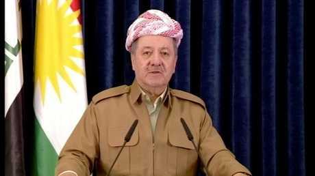 الرئيس السابق لإقليم كردستان العراق مسعود بارزاني