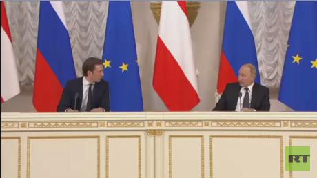 بوتين يدعو لعدم تسييس المساعدات لسوريا