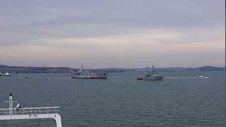 سفينتان حربيتان أوكرانيتان في بحر آزوف