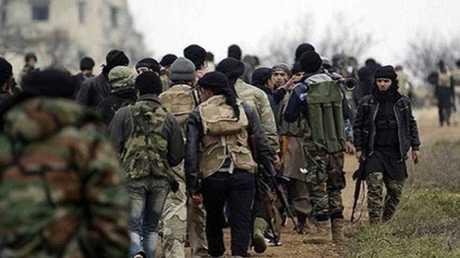 مسلحو جبهة تحرير الشام (النصرة سابقا) في إدلب