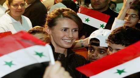 أسماء الأسد قرينة الرئيس السوري بشار الأسد