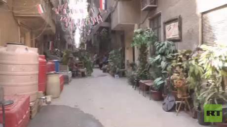 عدسة RT ترصد وضع مخيم اليرموك جنوب دمشق
