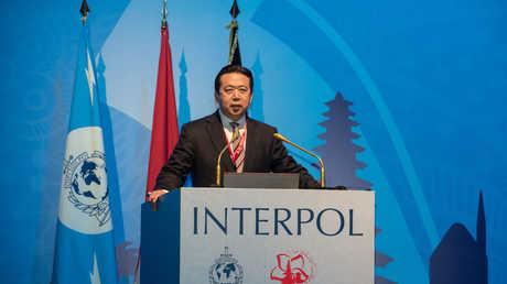 رئيس منظمة الشرطة الجنائية الدولية